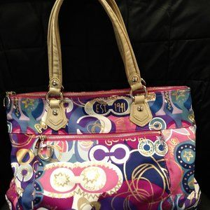 Coach Tote in colorful Poppy pattern